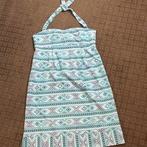 Halter dress with pockets!
